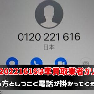 0120221616はガリバー【着信拒否は逆効果!?】止め方としつこく電話が掛かってくる理由