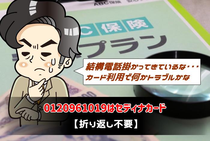 0120961019はセディナカード【折り返し不要】:サムネイル