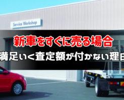 新車をすぐに売る場合:サムネイル