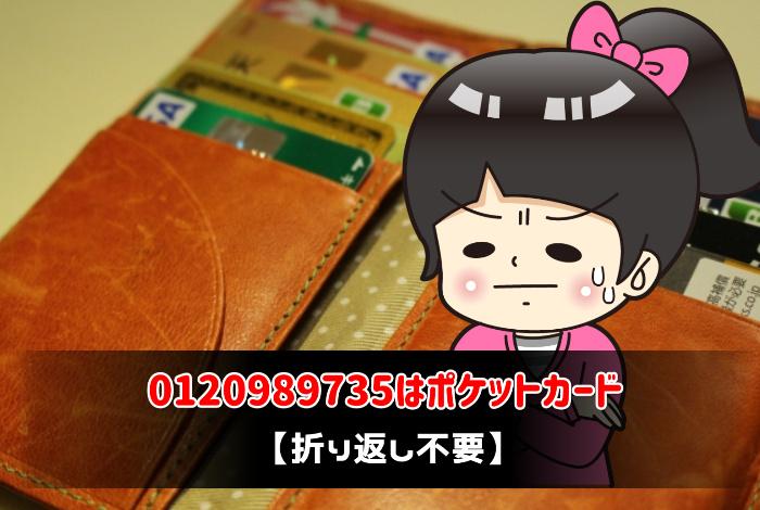 0120989735はポケットカード