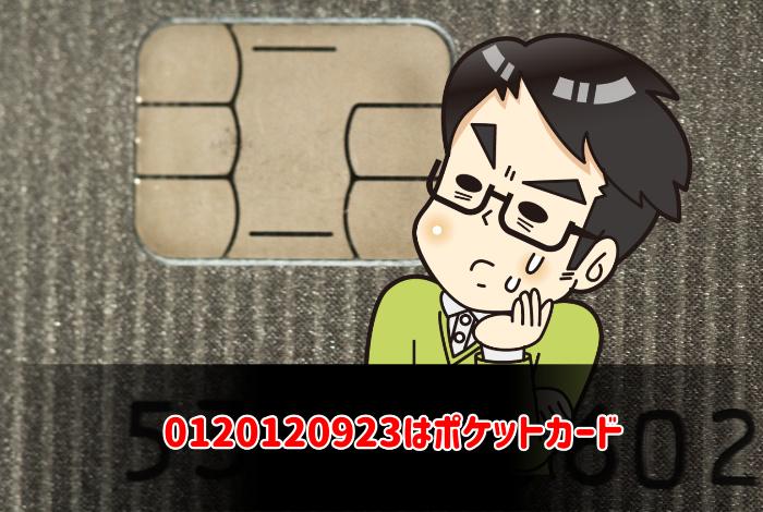 0120120923はポケットカード