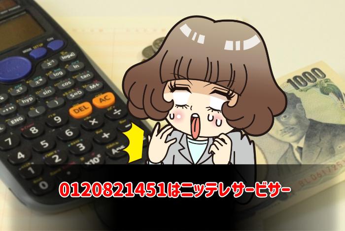 0120821451はニッテレサービサー