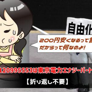 0120995553は東京電力エナジーパートナー【折り返し不要】