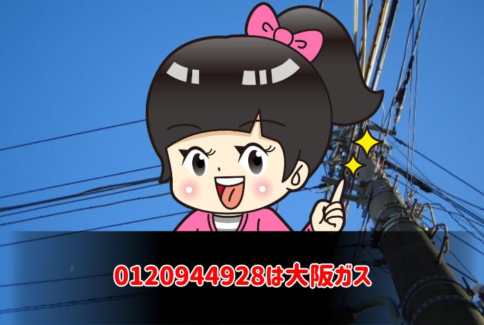 0120944928は大阪ガス