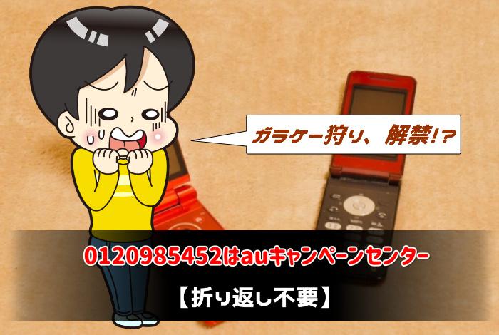0120985452はauキャンペーンセンター【折り返し不要】:サムネイル