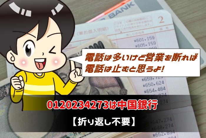 0120234273は中国銀行