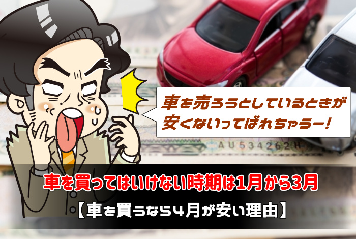 車を買ってはいけない時期は1月から3月【車を買うなら4月が安い理由】